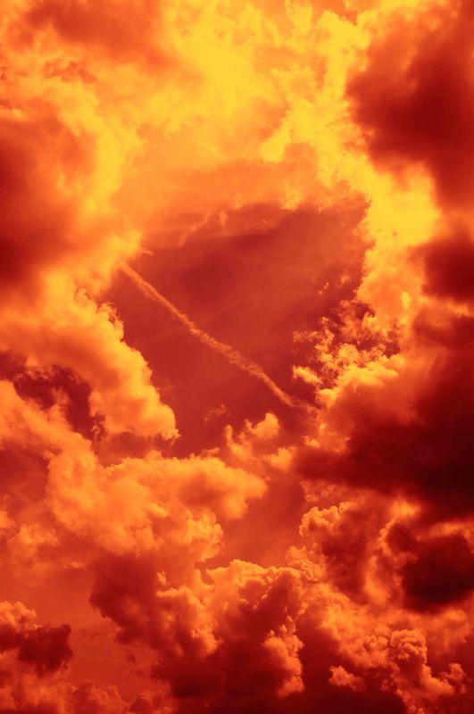 Как сделать огонь в небе 247