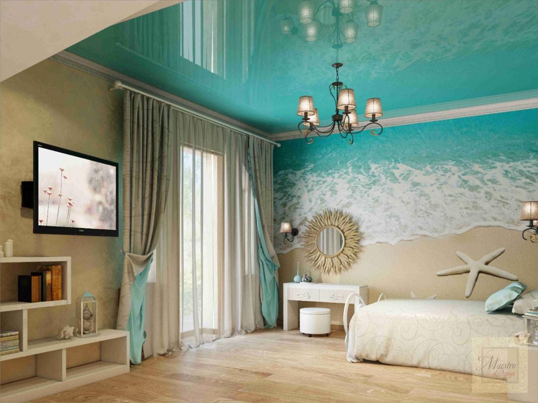 цветные натяжные потолки в интерьере фото любить, оберегать