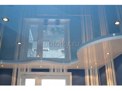 Купить Двухуровневые натяжные потолки фото с подсветкой калькулятор цен в Москве и области