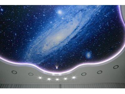 Купить Натяжной потолок с подсветкой по периметру цена с установкой в Москве и области