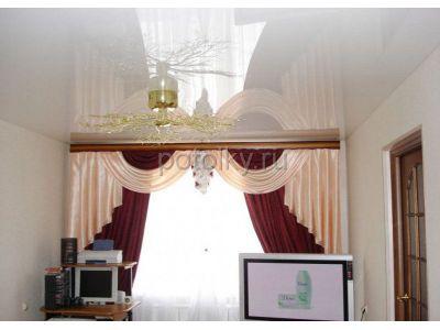 Купить Белый глянцевый натяжной потолок 19 кв м в Москве и области