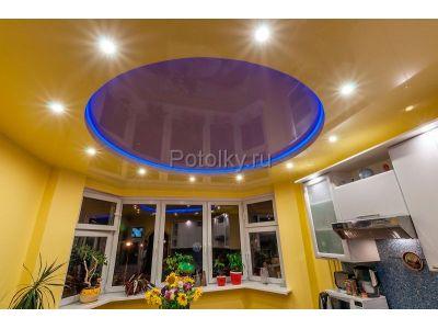 Купить Натяжной потолок со светодиодной подсветкой цена доступная каждому! в Москве и области