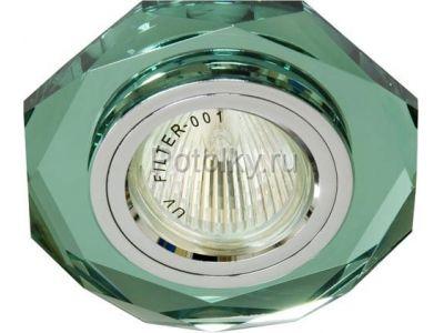 Купить 8020-2 восьмиугольник Цвет зеленый  серебро в Москве и области
