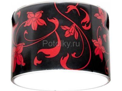 Купить CD2037 Цвет черный фон - красный рисунок в Москве и области