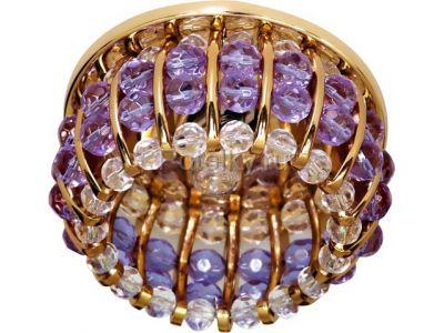 Купить CD2119 Цвет прозрачный-сиреневый  золото в Москве и области