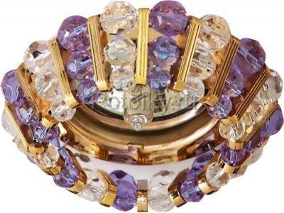 Купить CD2121 Цвет  прозрачный-сиреневый  золото в Москве и области