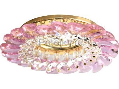Купить CD2313 Цвет прозрачный-розовый  золото в Москве и области