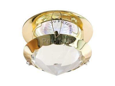 Купить CD29 MR16 G5.3 с прозрачным стеклом, золото, с лампой  в Москве и области