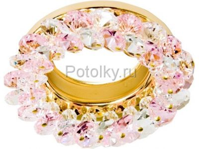 Купить CD4141 Цвет прозрачный-розовый  хром в Москве и области