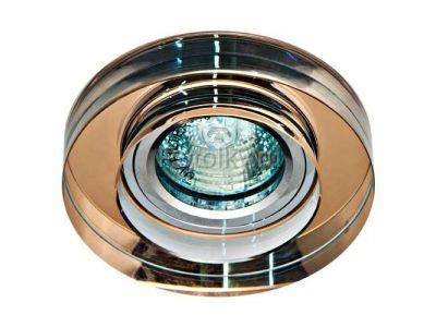 Купить Светильник потолочный, MR16 50W G5.3 коричневый, серебро,8080-2 в Москве и области