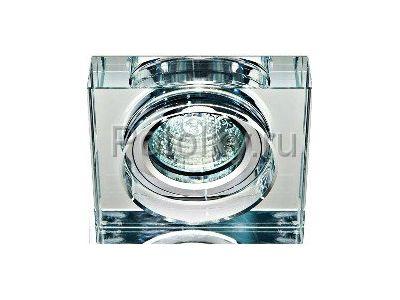 Купить Светильник потолочный,  прозрачный, серебро,8180-2 в Москве и области