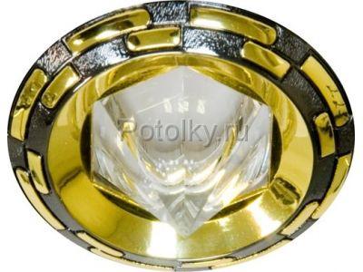 Купить Светильник потолочный, MR16 G5.3 черный-золото,1727 в Москве и области