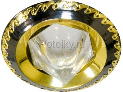 Купить Светильник потолочный, MR16 G5.3 черный-золото,1730 в Москве и области