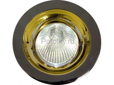 Купить Светильник потолочный, MR16 G5.3 черный металлик-золото, DL2009 в Москве и области