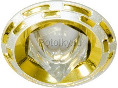 Купить Светильник потолочный, MR16 G5.3 жемчужное серебро-золото,1727 в Москве и области