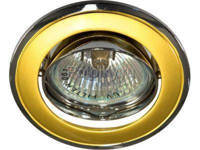 Купить Светильник потолочный, MR16 G5.3 золото-хром, 301T-MR16 в Москве и области