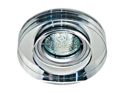 Купить Светильник потолочный, MR16 50W G5.3 прозрачный, серебро,8080-2 в Москве и области