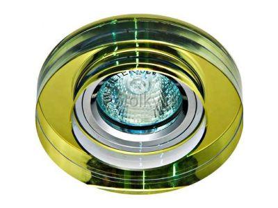 Купить Светильник потолочный MR16 50W G5.3 желтый, серебро,8080-2 в Москве и области
