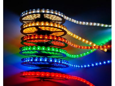 Купить Светодиодная лента SMD 5050, 300 Led, IP65, 12V, Standart, RGB  в Москве и области