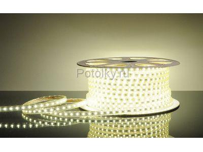 Купить LED лента LUX, герметичная в силиконовой оболочке, 220V, 13*8 мм, IP67, SMD 5050, 60 диодов/метр, цвет светодиодов белый, бухта 50 м (LED-ленты) в Москве и области