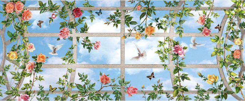 Фотопечать на потолке фрески
