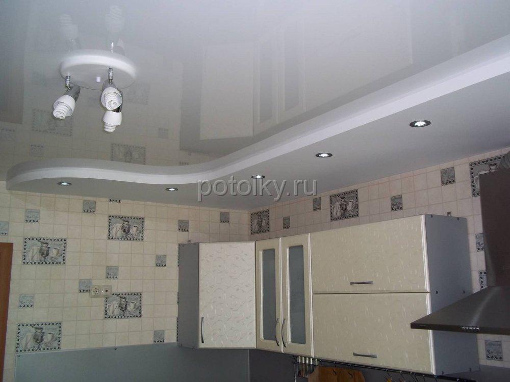 Как недорого сделать потолок на кухне 25